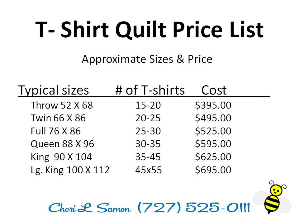 Custom Tshirt Quilt | T-Shirt Quilting Pricing | Custom T-Shirt ...
